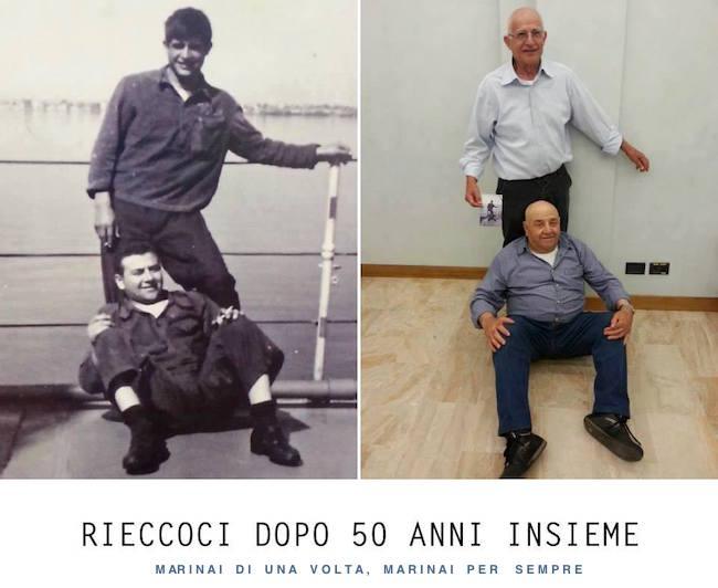 Marinai Pietro Rossi e PIetrino Fodde  rieccoci dopo 50 anni - www.lavocedelmarinaio.com
