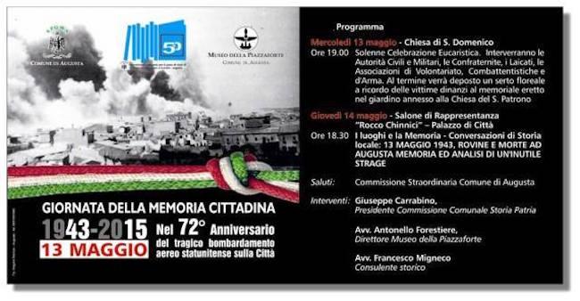 13-14.5.2015 ad Augusta Giornata della Memoria (foto Francesco Carriglio)