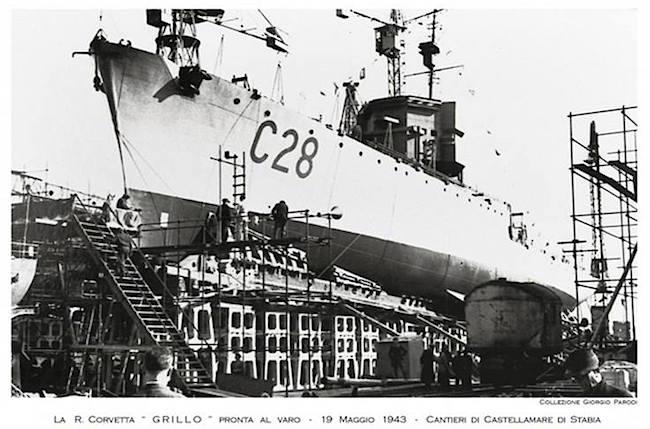 19.5.1943 regia corvetta Grillo - www.lavocedelmarinaio.com