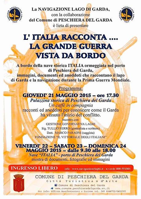 21.5.2015 a Peschiera del Garda l'Italia racconta la grande guerra vista da bordo  - www.lavocedelmarinaio.com