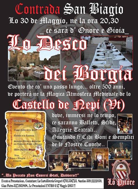 30.5.2015 a Nepi Lo desco dei Borgia - www.lavocedelmarinaio.com