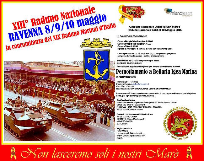 8-10.5.2015 a Ravenna XIII raduno nazionale Gruppo Leone di San Marco - www.lavocedelmarinaio.com