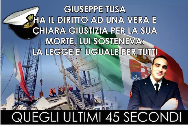 Giuseppe Tusa e gli ultimi suoi 45 secondi - www.lavocedelmarinaio.com