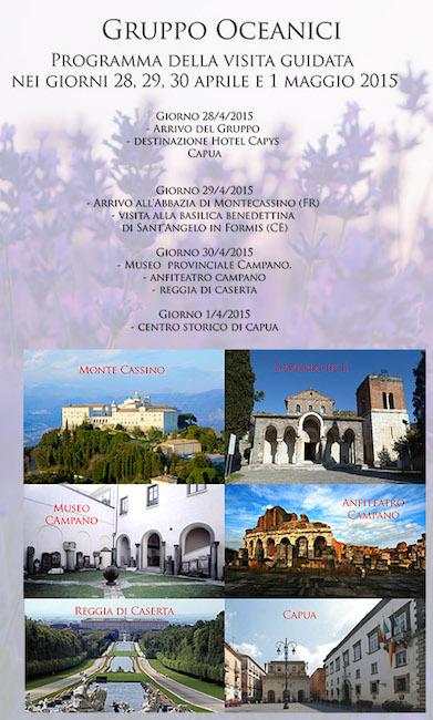 Gruppo Oceanici programma visita guidata Capua 2015 - Hotel Capys - www.lavocedelmarinaio.com