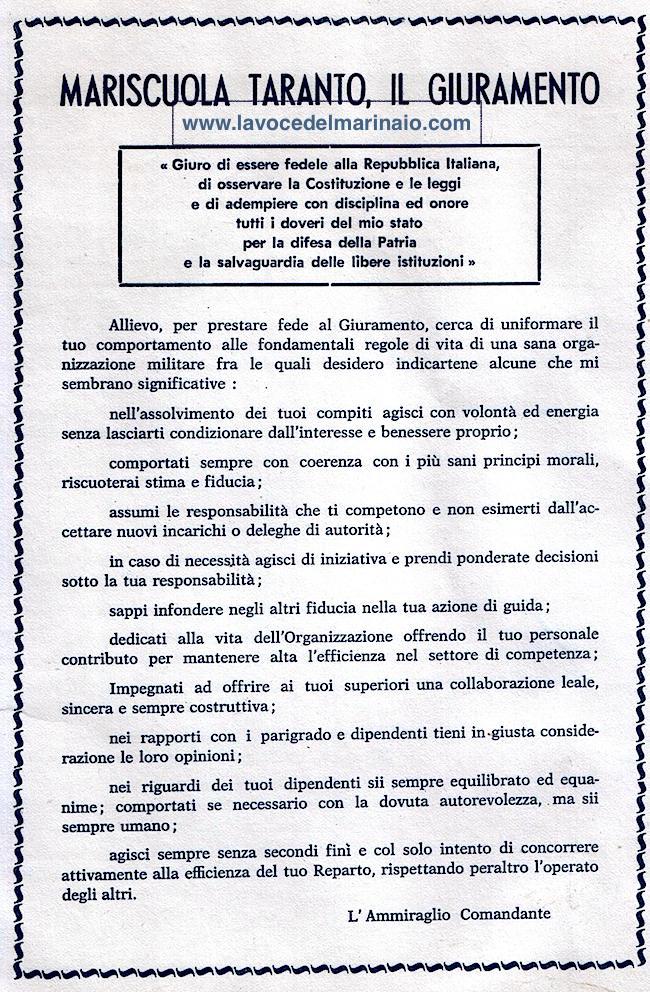 MARISCUOLA TARANTO - I L GIURAMENTO