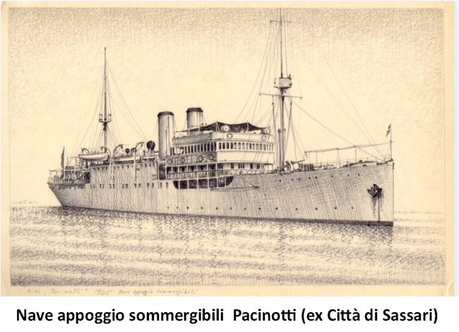 Nave appoggio Pacinotti ex città di Sassari