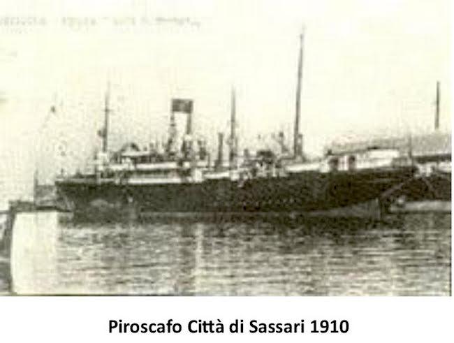 Piroscafo città di Sassari1910