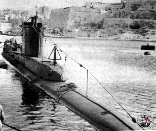 sommergibile britannico Upholder (f.p.g.c. Francesco Carriglio a www.lavocedelmarinaio.com)