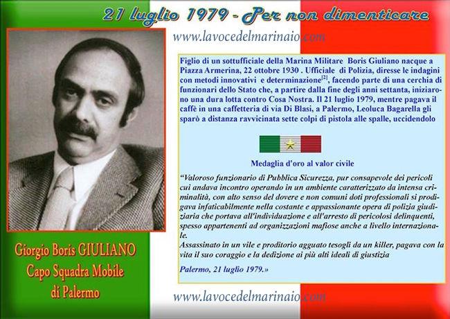 21.7.1979 Boris Giuliano - www.lavocedelmarinaio.com