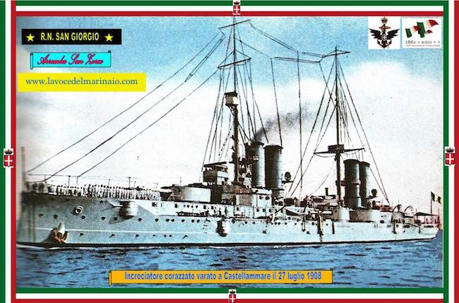 27.7.1908 vero regia nave San Giorgio - www.lavocedelmarinaio.com