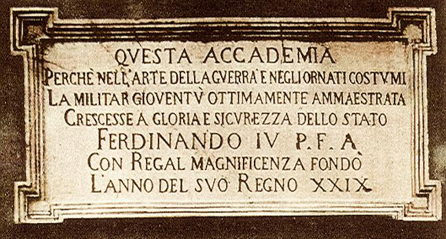Lapide storica della Nunziatella - www.lavocedelmarinaio.com