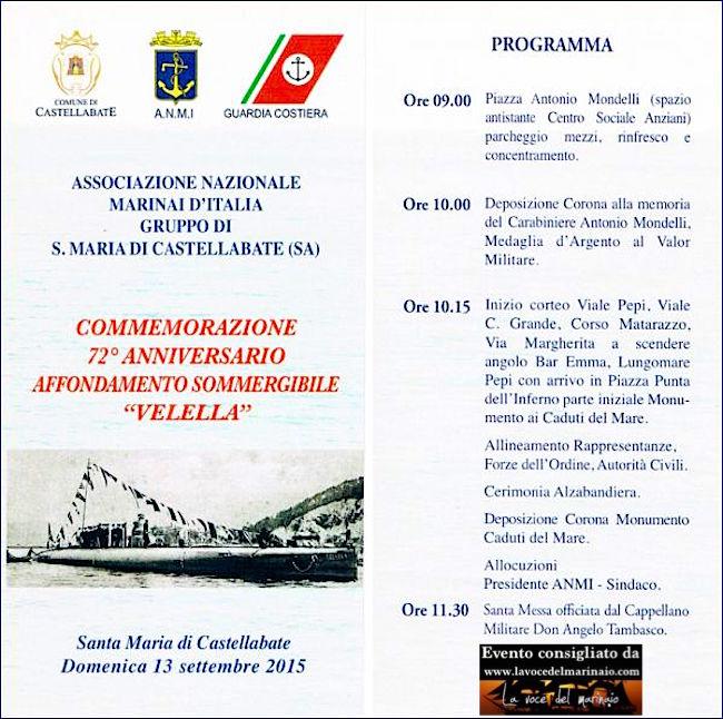 13.9.2015 a S.Maria di Castellabate commemorazione 72° aniiversario affondamento sommergibile Velella - www.lavocedelmarinai.com - copia