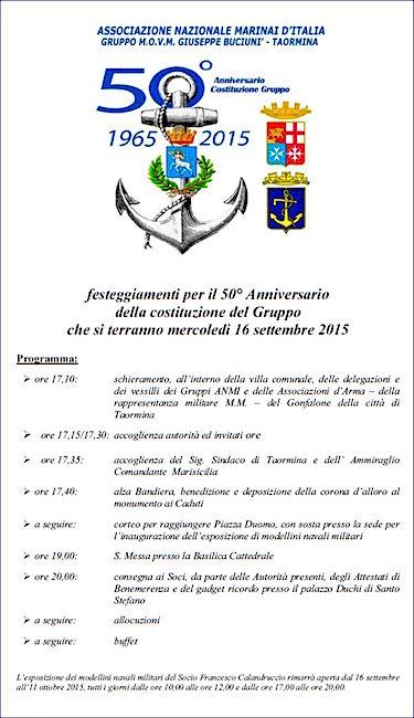 16.9.2015 a Taormina - celebrazioni A.N.M.I. - www.lavocedelmarinaio.com