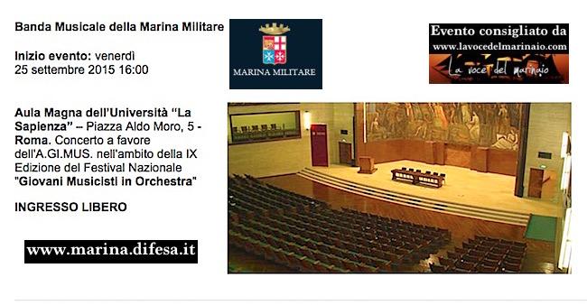 25.9.2015 a Roma Banda della Marina - www.lavocedelmarinaio.com