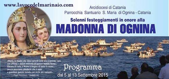 5-13.9.2015 madonna di Ognina www.lavocedelmarinaio.com