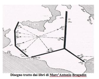 Disegno tratto dai libri di Marc'Antonio Bragadin - www.lavocedelmarinaio.com