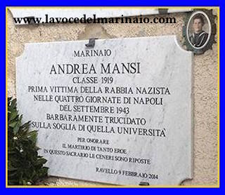 Lapide a Ravello del Marinaio Andrea Mansi - www.lavocedelmarinaio.com