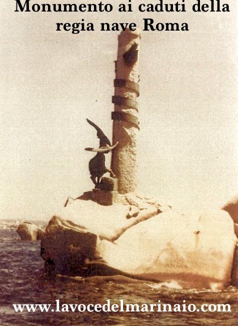 Monumento ai caduti della regia nave Roma - www.lavocedelmarinaio.com