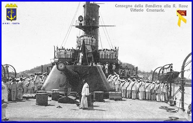 consegna della bandiera di combattimento regia nave vittorio emanuele