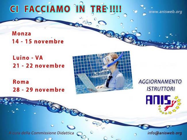 14-15.11+ ANIS Ci facciamo in tre aggiornamentop per istruttori sub - www.lavocedelmarinaio.com