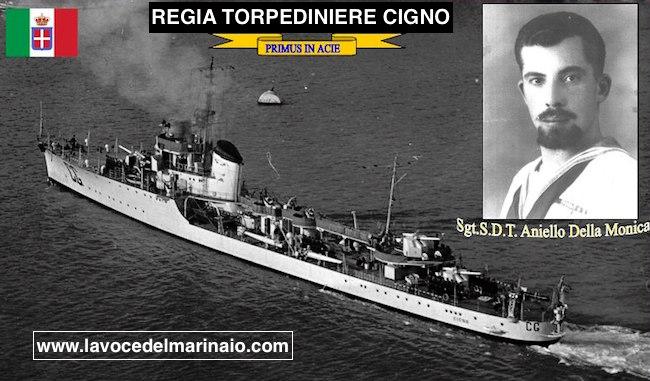 17.11.1940 sergente Aniello Della Monica - Regia nave Cigno - www.lavocedelmarinaio.com - copia