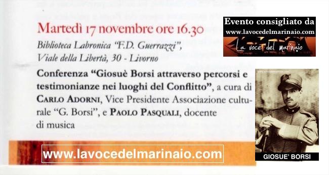 17.11.2015 a Livorno Giosuè Borzi attraverso percorsi e testimonianze - www.lavocedelmarinaio.com