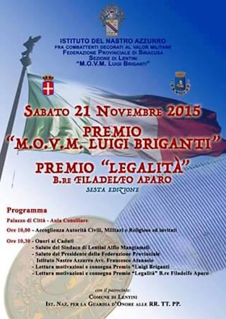 21.11.2015 a Lentini Premio Legalità - www.lavocedelmarinaio.com