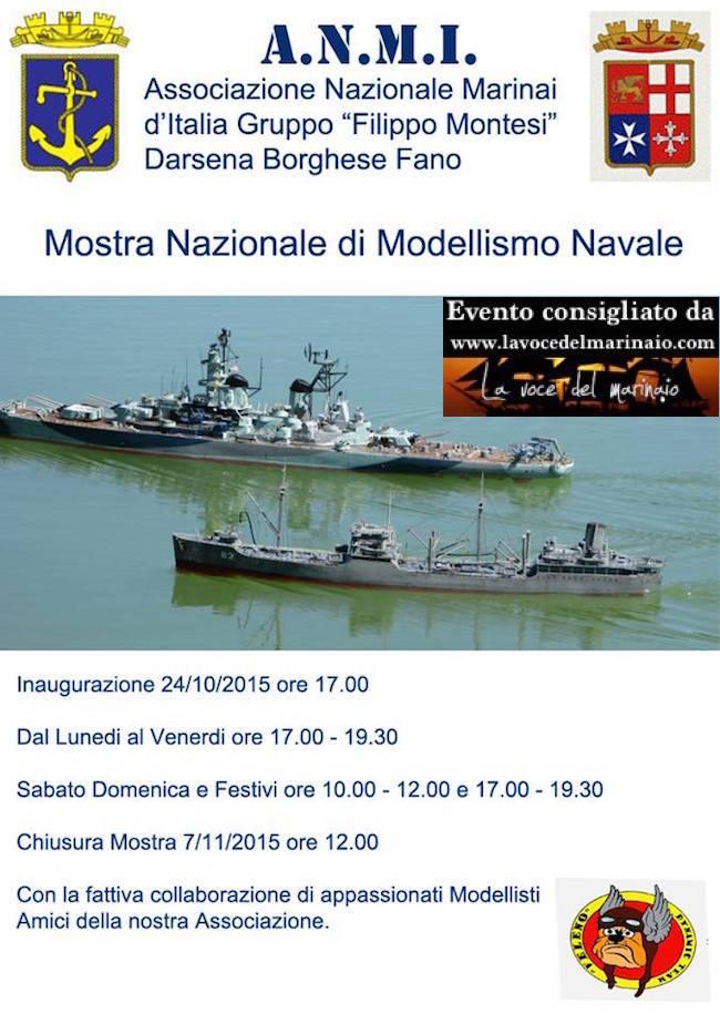 24.10 - 7.11.2015 a FANO mostra nazionale di modellismo navale - www.lavocedelmarinaio.com