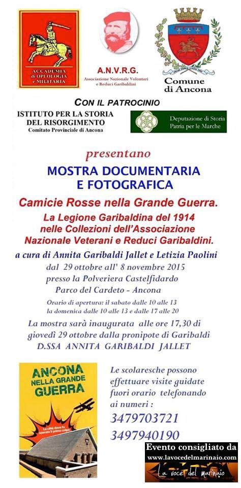 29.10-8.11.2015 ad Ancona mostra documentaria e fotografica - www.lavocedelmarinaio.com