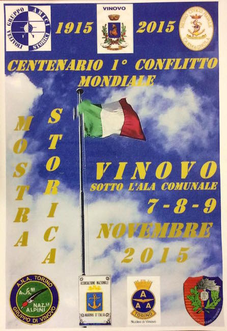 7-9.11.2015 a Vinovo Mostra Storica centenario Grande Guerra - www.lavocedelmarinaio.com
