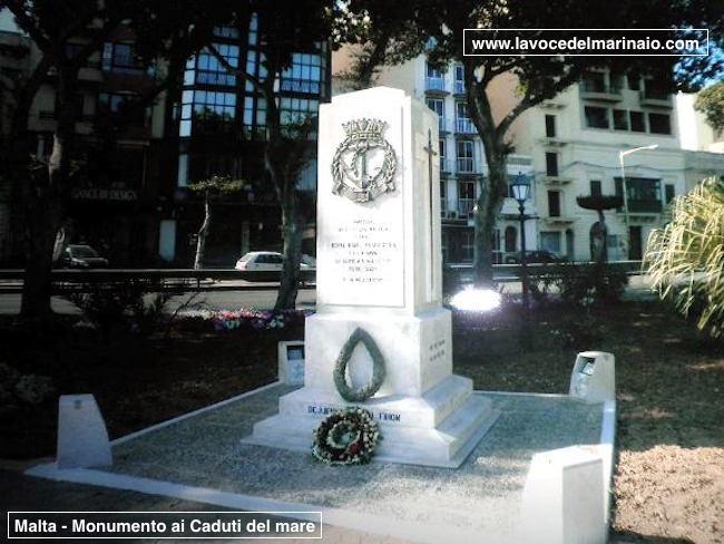 A Malta il monumento ai caduti del mare - www.lavocedelmarinaio.com