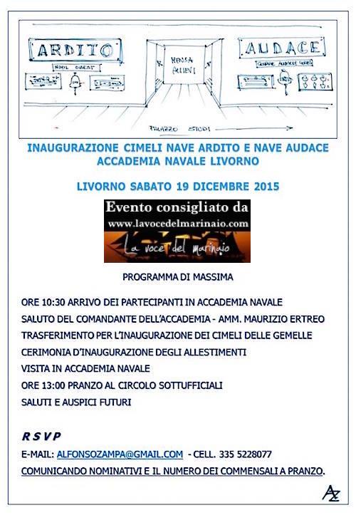 19.12.2015 a Livorno inaugurazione mostra cimeli Navi Ardito e Audace - www.lavocedelmarinaio.com