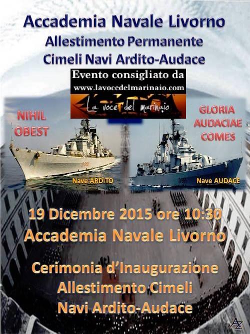 19.12.2015 a Livorno mostra cimeli Nave Ardito - www.lavocedelmarinaio.com