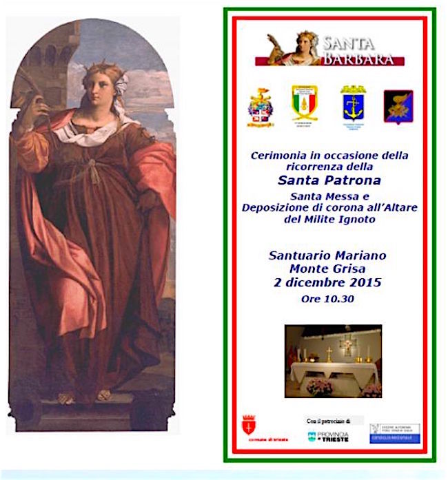 2.12.2015 Santa Barbara a Trieste - www.lavocedelmarinao.com