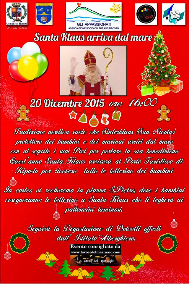 20.12.2015 Santa Klaus arriva a Risposto - www.lavocedelmarinaio.com