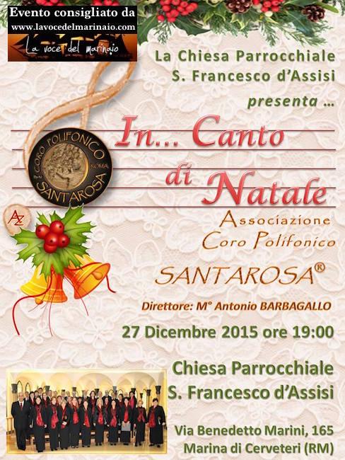 27.12.2015 Coro polifonico santa rosa a Marina di Cerveteri Roma - www.lavocedelmarinaio.com