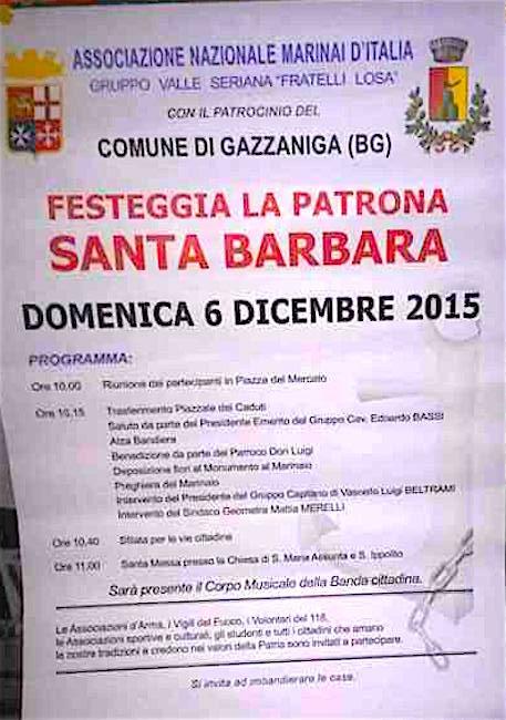 6.12.2015 Santa Barbara a Gazzaniga (Bg)  - www.lavocedelmarinaio.com
