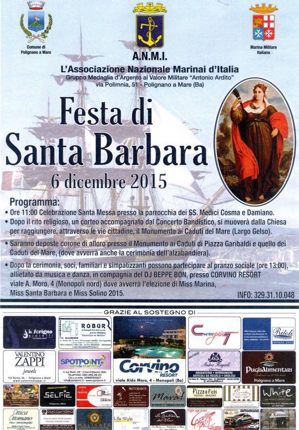 6.12.2015 Santa Barbara a Polignano a Mare - www.lavocedelmarinaio.com