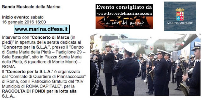 16.1.2016 banda della marina a roma pro s.l.a. - www.lavocedelmarinaio.com