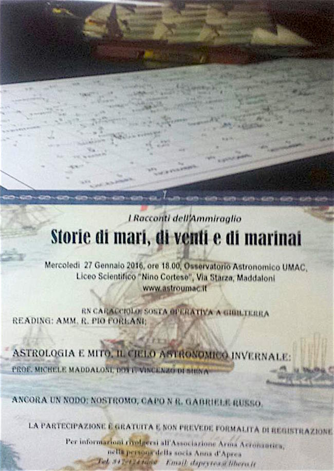 27.1.2016 a Maddaoni I racconti dell'ammiraglio - www.lavocedelmarinaio.com