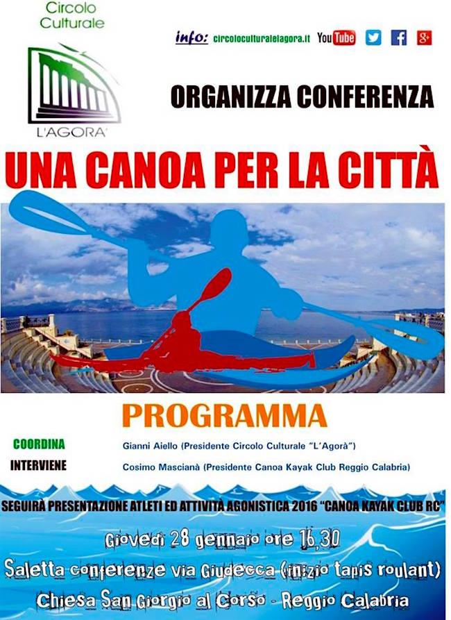 28.1.2016 a Reggio Calabria Una canoa per la città - www.lavocedelmarinaio.com a cura Giovanni Aiello