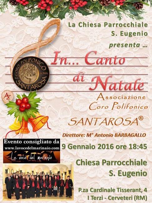 9.1.2016 Coro polifonico santa rosa a Cerveteri Roma - www.lavocedelmarinaio.com