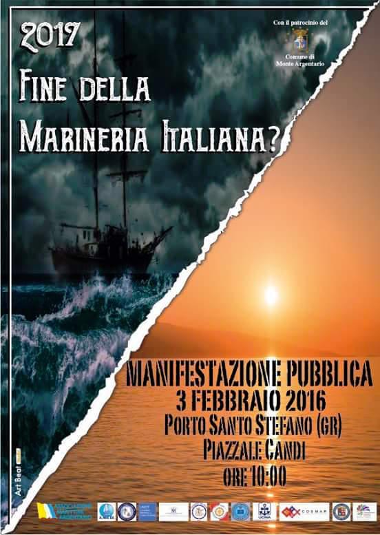 2017 fine della marineria italiana - manifestazione pubblica il 3.2.2016 a Porto santo stedano - www.lavocedelmarinaio.com