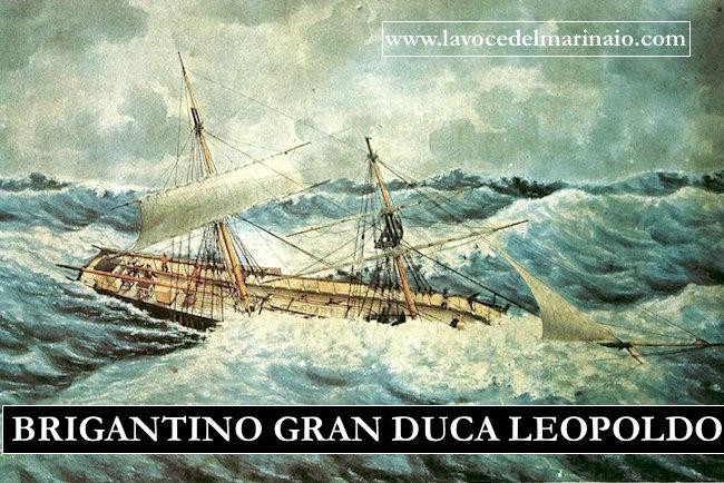 24.4.1848 brigantino Gran duca Leopoldo - www.lavocedelmarinaio.com