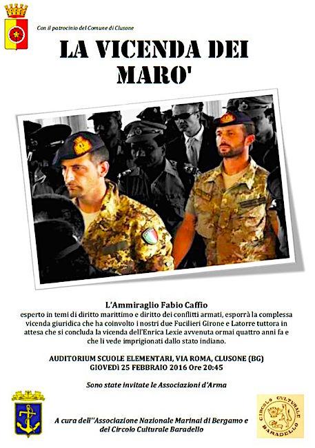 25.2.2016 a Clusone (Bergamo) il saccente fabio caffio a bergamo - www.lavocedelmarinaio.com