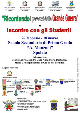 27.2-10.3.2016 a Spoleto incontri con gli studenti - www.lavocedelmarinaioc.om