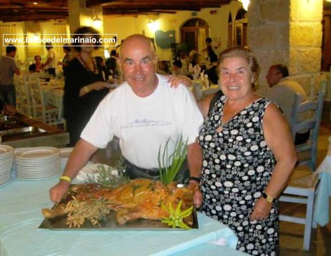 Francesco Ruggieri con la moglie per www.lavocedelmarinaio.com