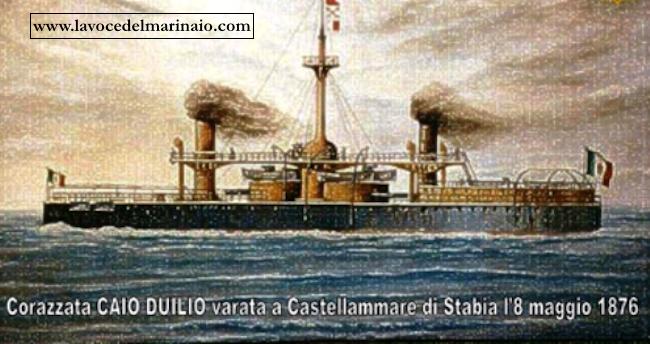 regia corazzata Caio Duilio varata a Castellammare di Stabial'8.5.1876 - www.lavocedelmarinaio.com