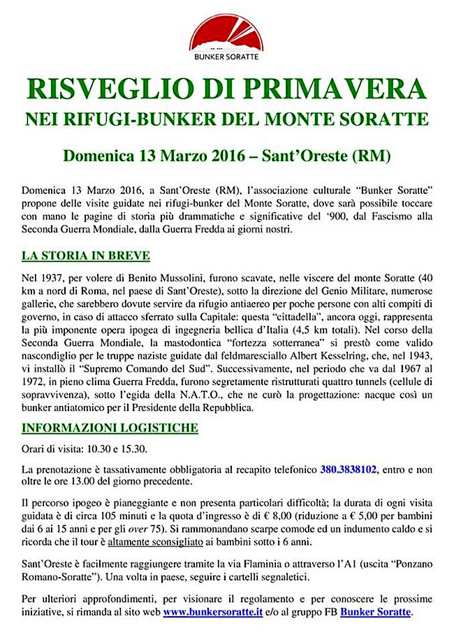 13.3.2016 - bunker soratte - www.lavocedelmarinaio.com