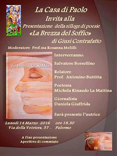 14.3.2016 a PAERMO presentazione del libro La brezza del soffio di Giusi Contrafatto - www.lavocedelmarinaio.com